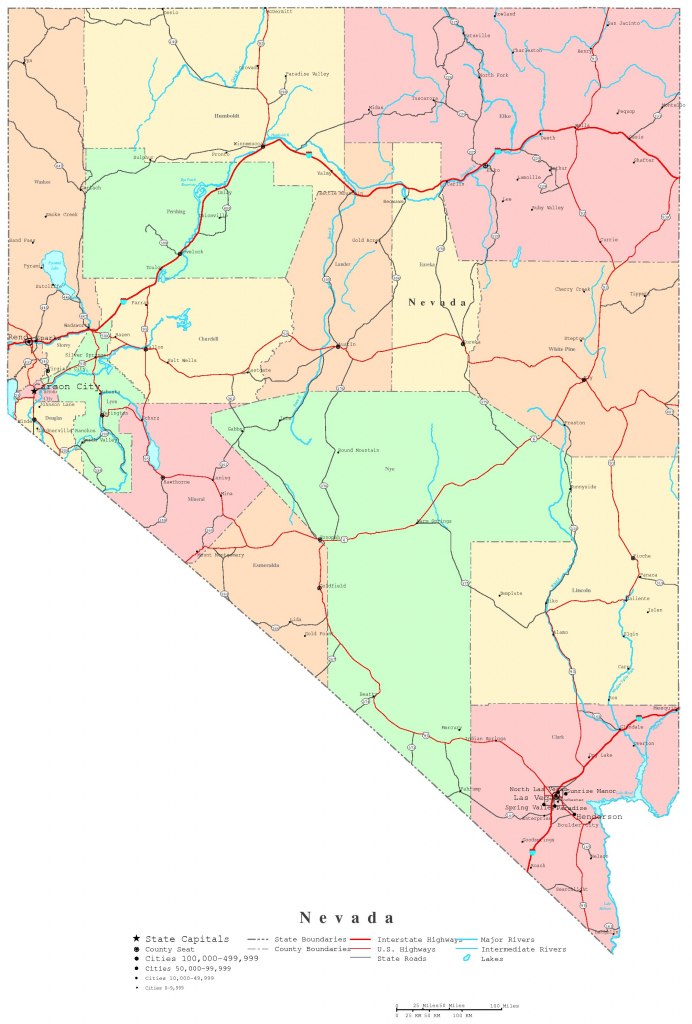 Nevada Printable Map with regard to Free Online Printable Maps
