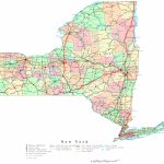 New York Printable Map Within Printable Map Of New York