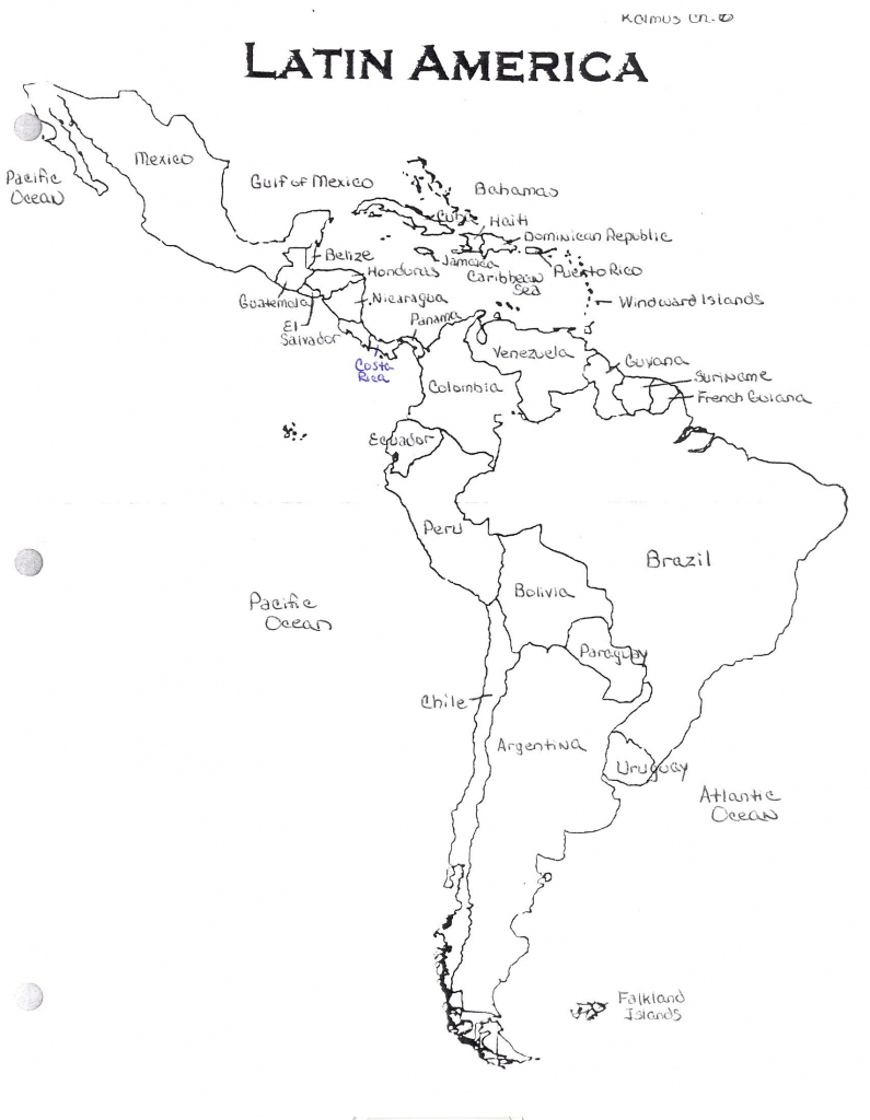 North America Blank Map Quiz With Answers South America Coloring Map in Latin America Map Quiz Printable