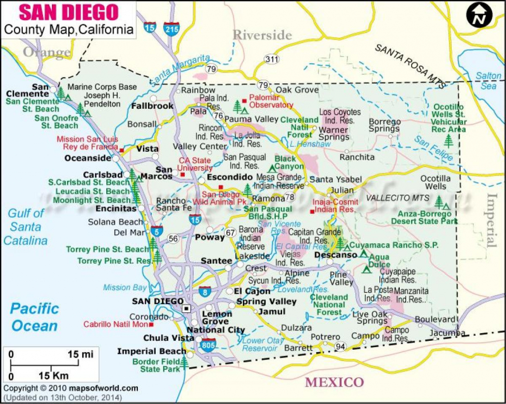 North San Diego Map - Map Of Northern San Diego (California - Usa) with Printable Map Of San Diego