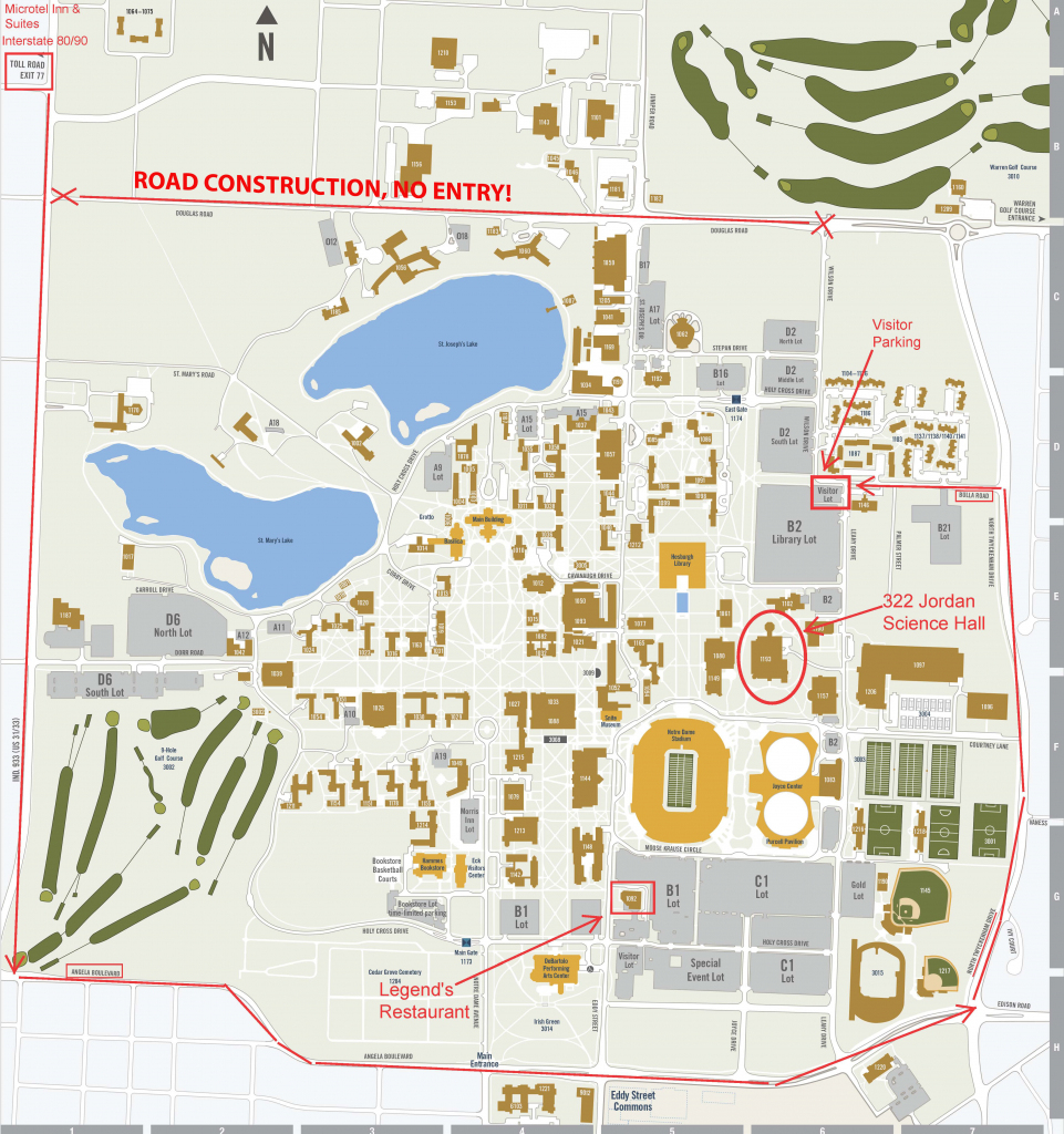 Notre Dame Campus Map Pdf – Bestinthesw in Notre Dame Campus Map Printable