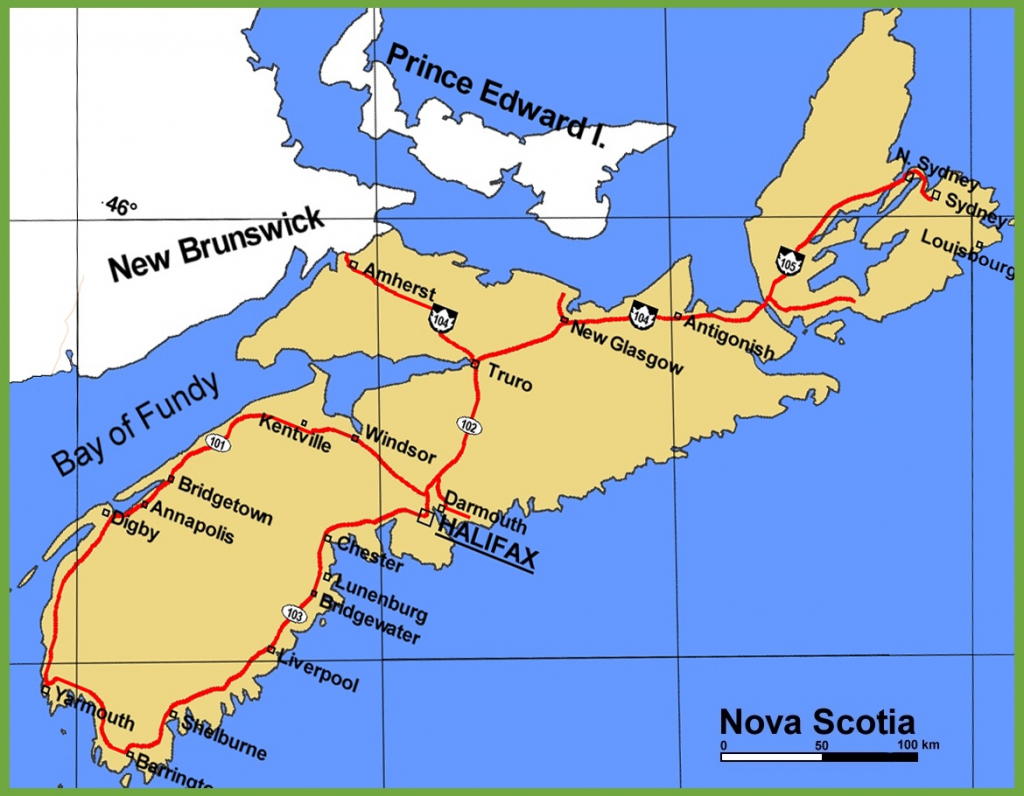 Nova Scotia Maps | Canada | Maps Of Nova Scotia (Ns) for Printable Map Of Nova Scotia Canada