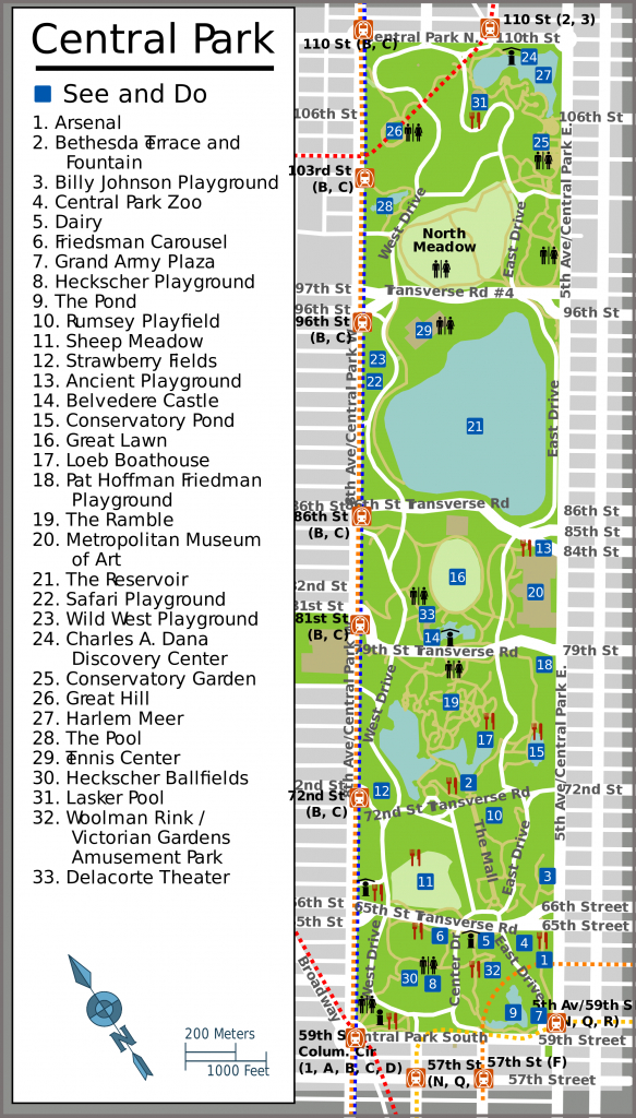 Nyc Central Park Map - Aishouzuo in Printable Map Of Central Park Nyc