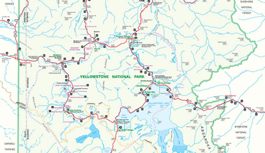 Official Yellowstone National Park Map Pdf - My Yellowstone Park pertaining to Printable Map Of Yellowstone National Park