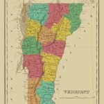 Old State Map   Vermont   Finley 1831 Pertaining To Printable Map Of Vermont