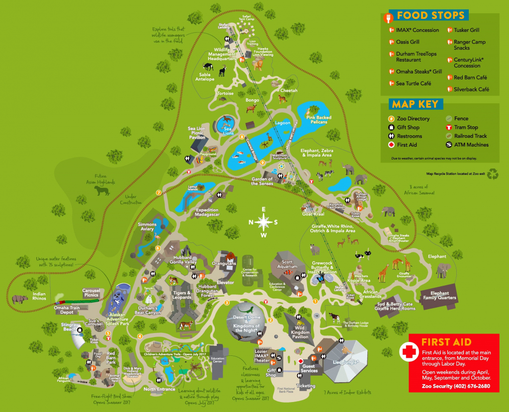 Omaha Zoo Map intended for Printable Detroit Zoo Map