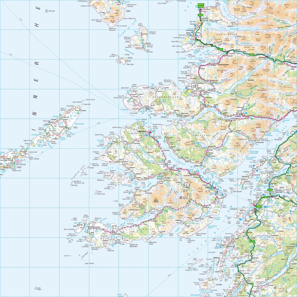 Ordnance Survey Map Of Mull And Surrounding Area (4000×4000 inside Printable Map Of Mull