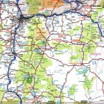 Oregon Road Map Inside Free Printable State Road Maps