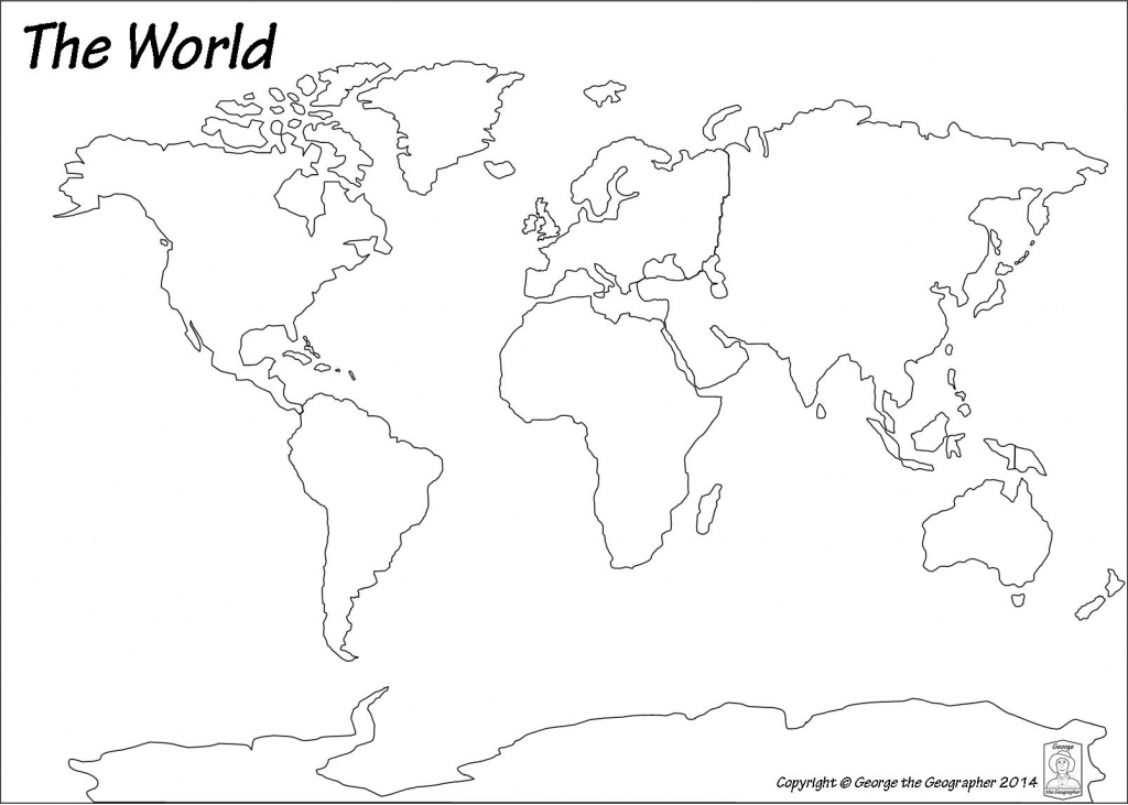 Outline Base Maps within Continents And Oceans Map Quiz Printable
