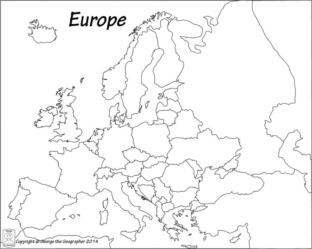 Outline Map Of Europe Political With Free Printable Maps And regarding Free Printable Map Of Europe