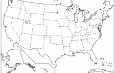 Blank Printable Map Of 50 States And Capitals