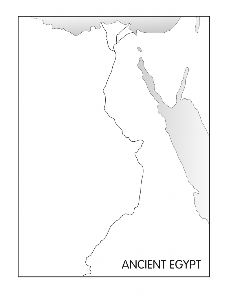 Outline Maps: Ancient Egypt And Greece - Five J's Homeschool inside Outline Map Of Ancient Greece Printable