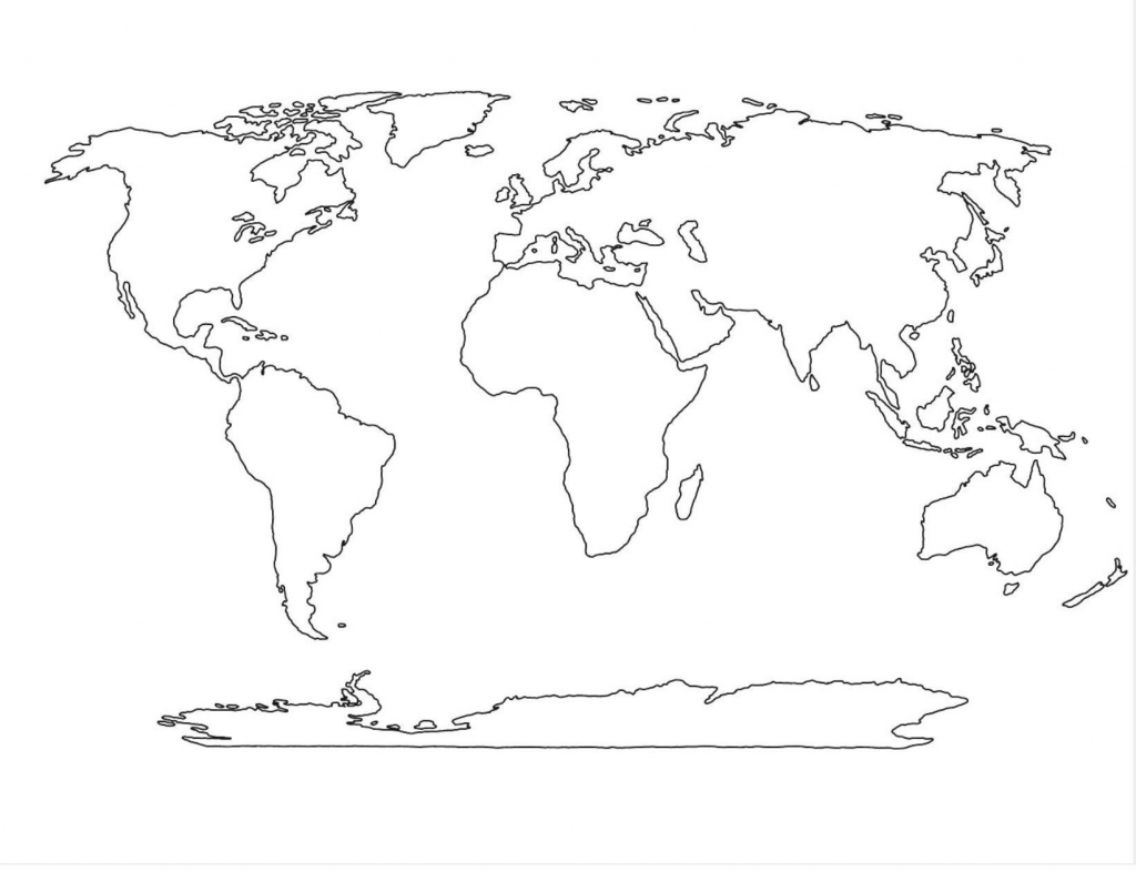 Outline Of 7 Continents - Google Search   Baby M   World Map for 7 Continents Map Printable