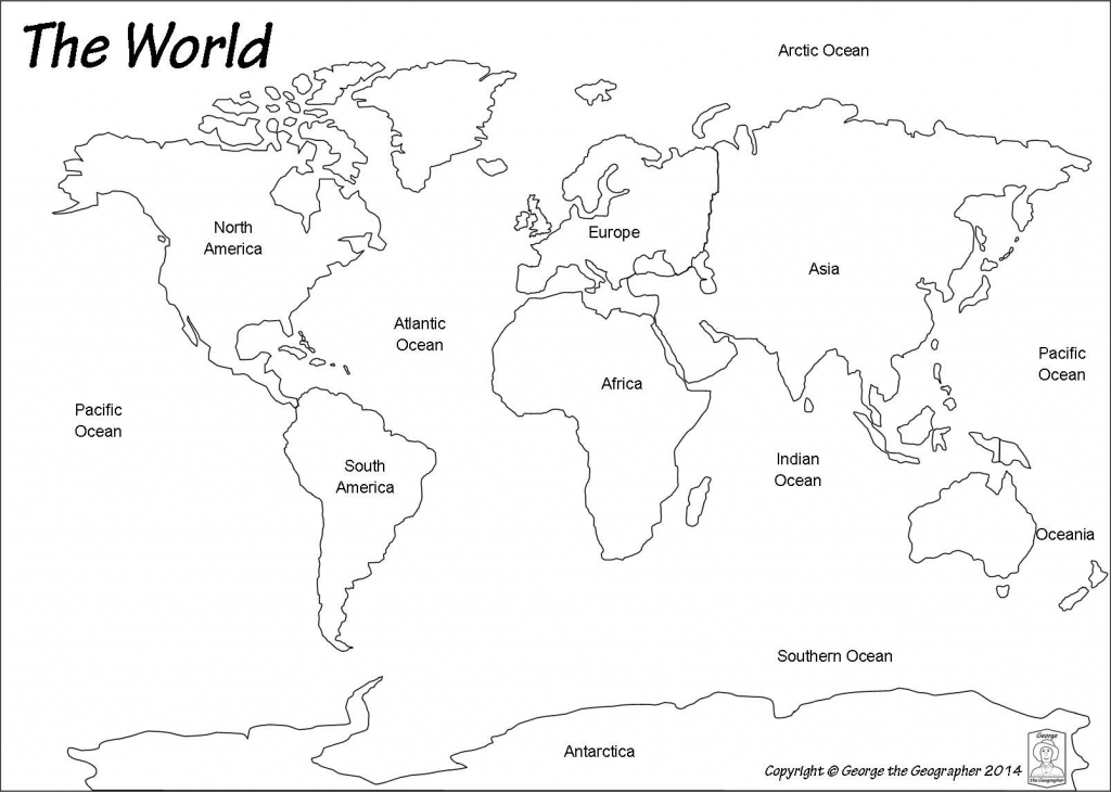 Outline World Map   Map   World Map Printable, Blank World Map intended for Continents Of The World Map Printable