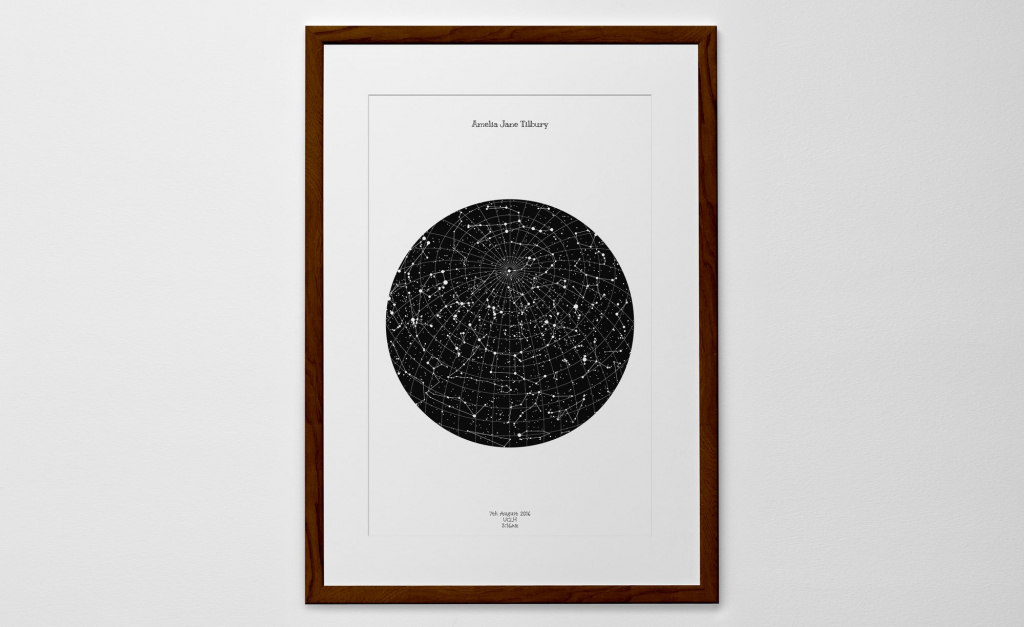 Personalized Star Map Print Or Poster Of The Night Sky - Posterhaste throughout Make A Printable Map