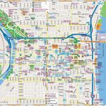 Philadelphia Downtown Map Intended For Printable Map Of Downtown Chicago
