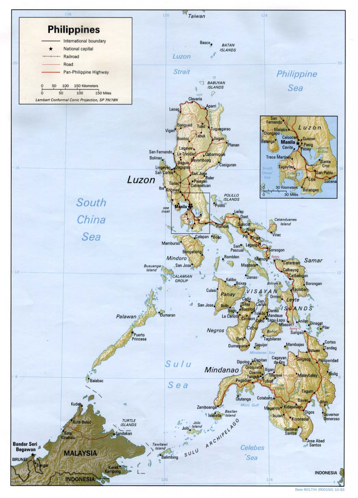 Philippines Maps - Perry-Castañeda Map Collection - Ut Library Online throughout Printable Map Of The Philippines