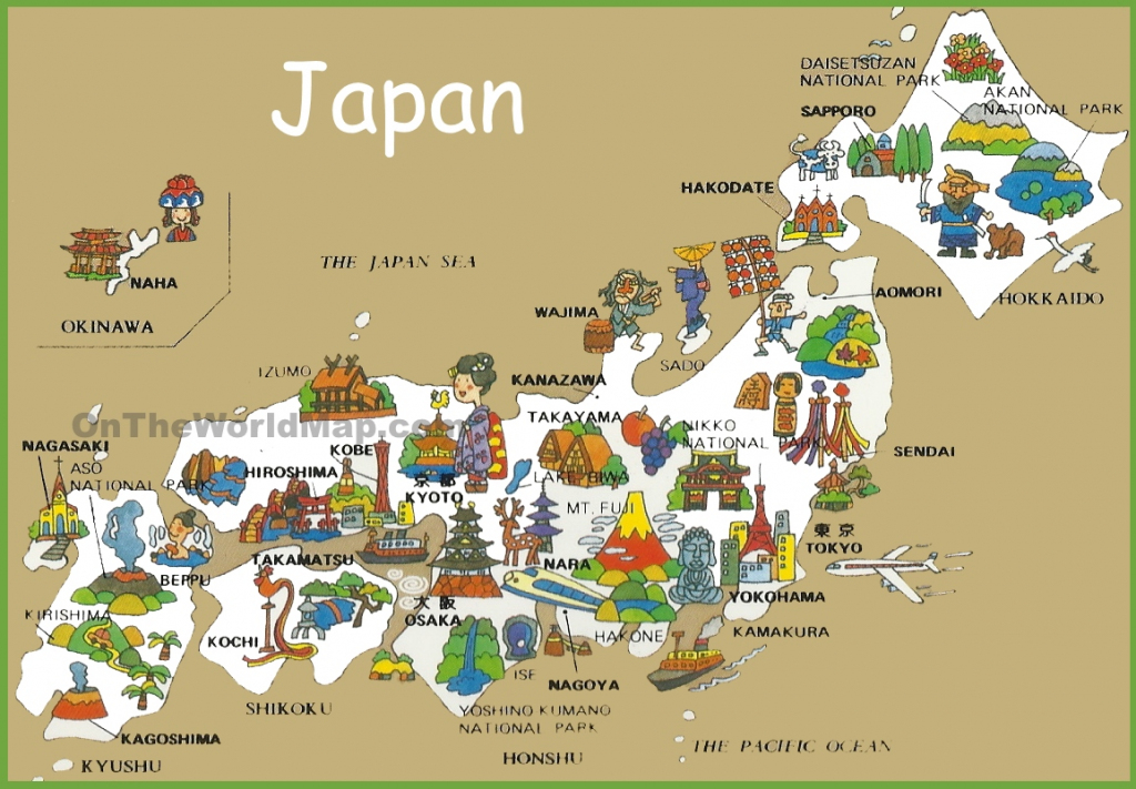 Pictorial Travel Map Of Japan within Free Printable Map Of Japan
