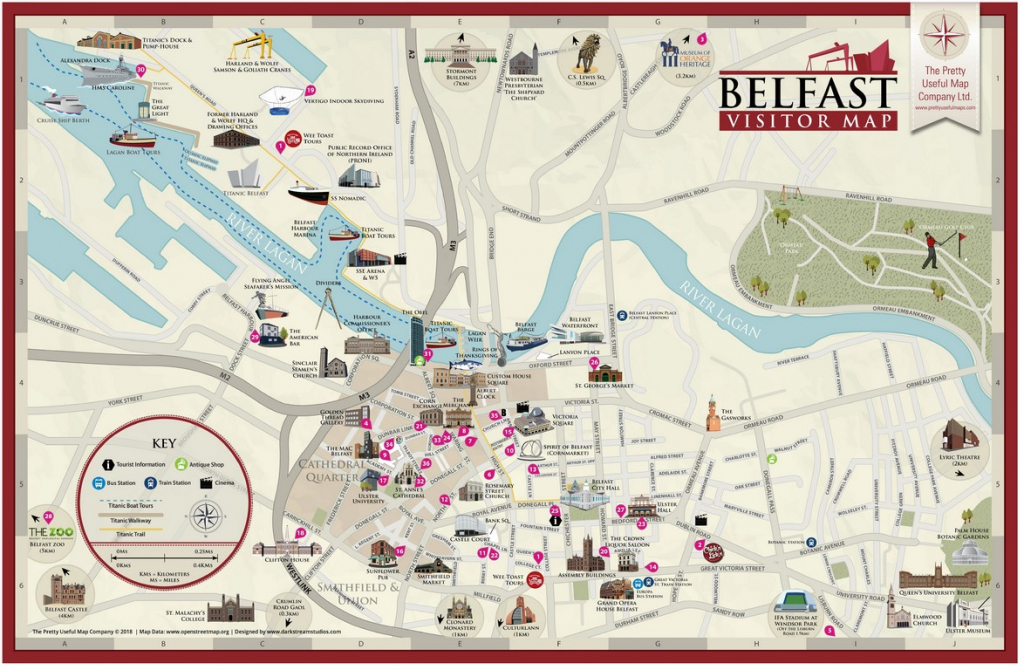 Pretty Useful Map Co. | Beautifully Illustrated Map Guides – Belfast Map with Belfast City Centre Map Printable