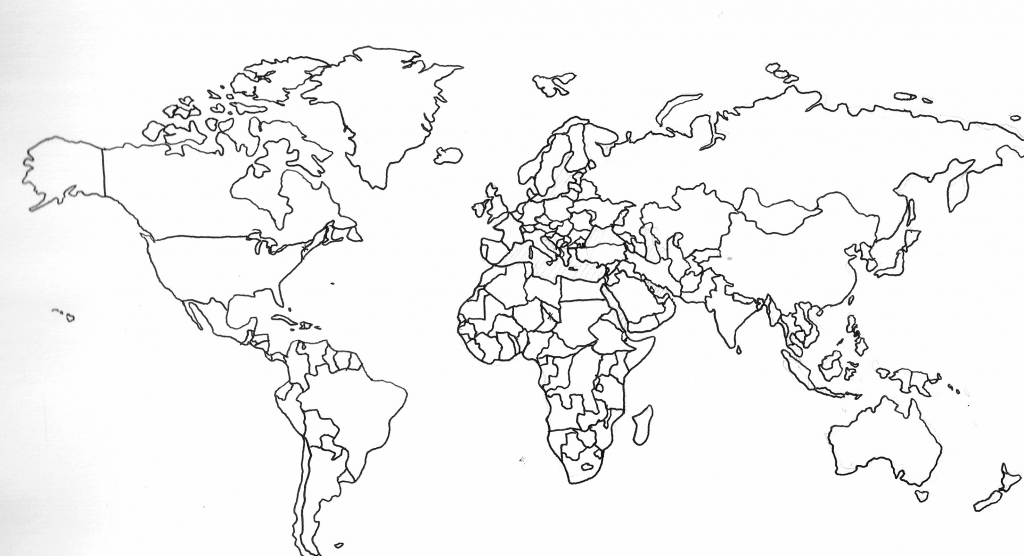 Printable Black And White World Map With Countries 13 1 - World Wide with regard to Printable World Map With Countries Black And White