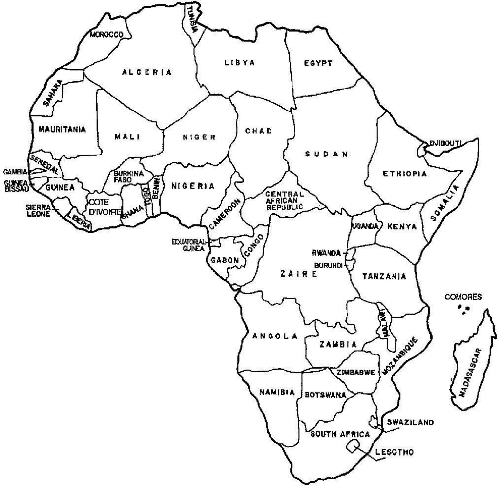 Printable Blank Map African Countries Diagram Outstanding Of High intended for Free Printable Map Of Africa With Countries