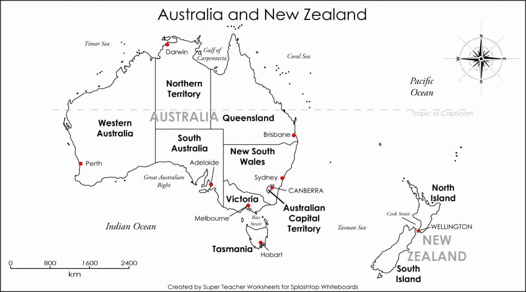 Printable Blank Map Australia Diagram Inside Of Noavg Me With States with Printable Map Of Australia