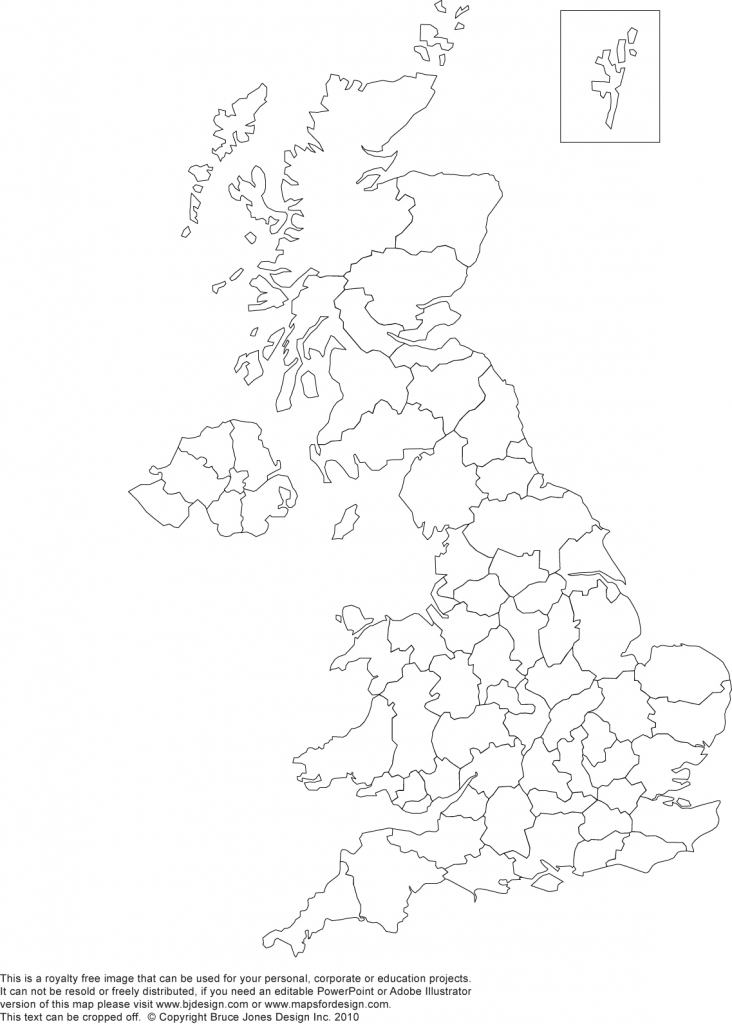 Printable, Blank Uk, United Kingdom Outline Maps • Royalty Free with regard to Printable Map Of Britain