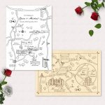 Printable Custom Map Wedding Invitation Save The Date Or Info | Etsy Pertaining To How To Create A Printable Map For A Wedding Invitation