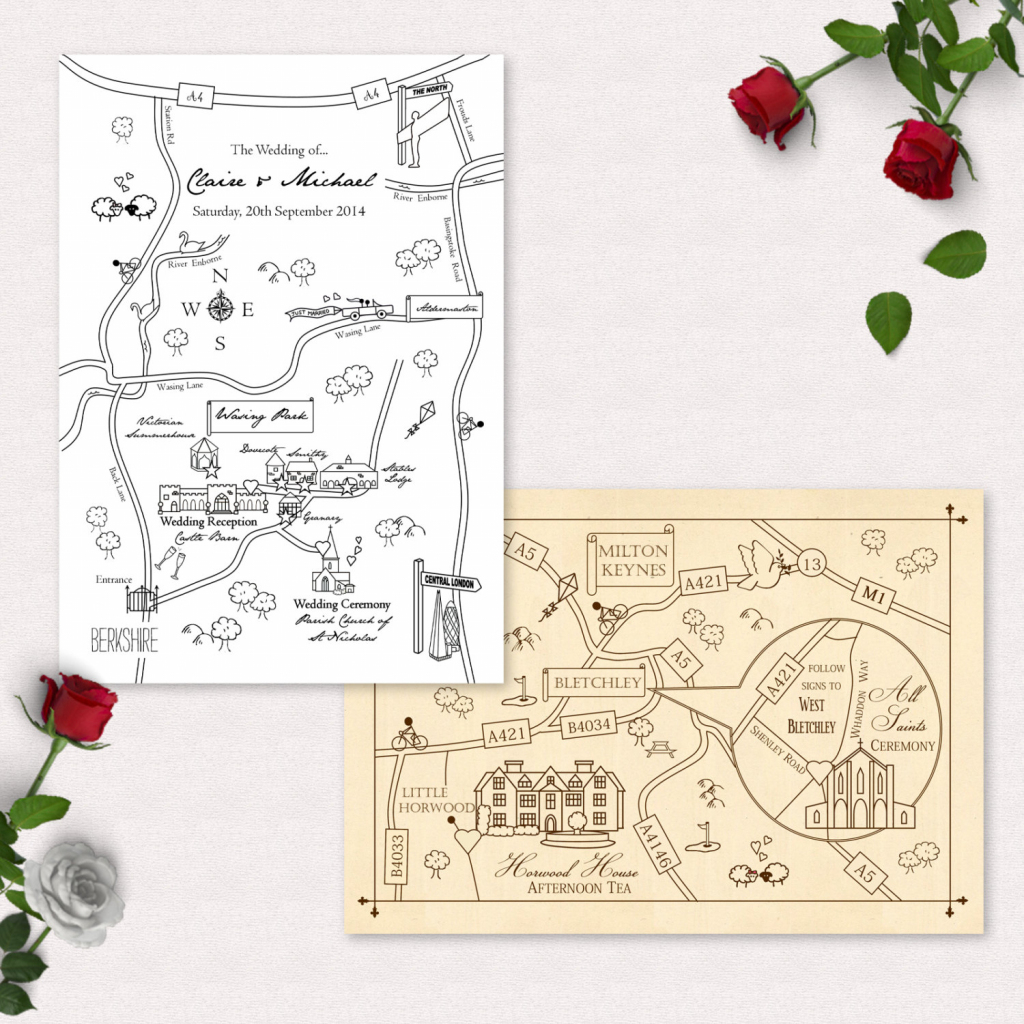Printable Custom Map Wedding Invitation Save The Date Or Info | Etsy regarding Printable Maps For Invitations