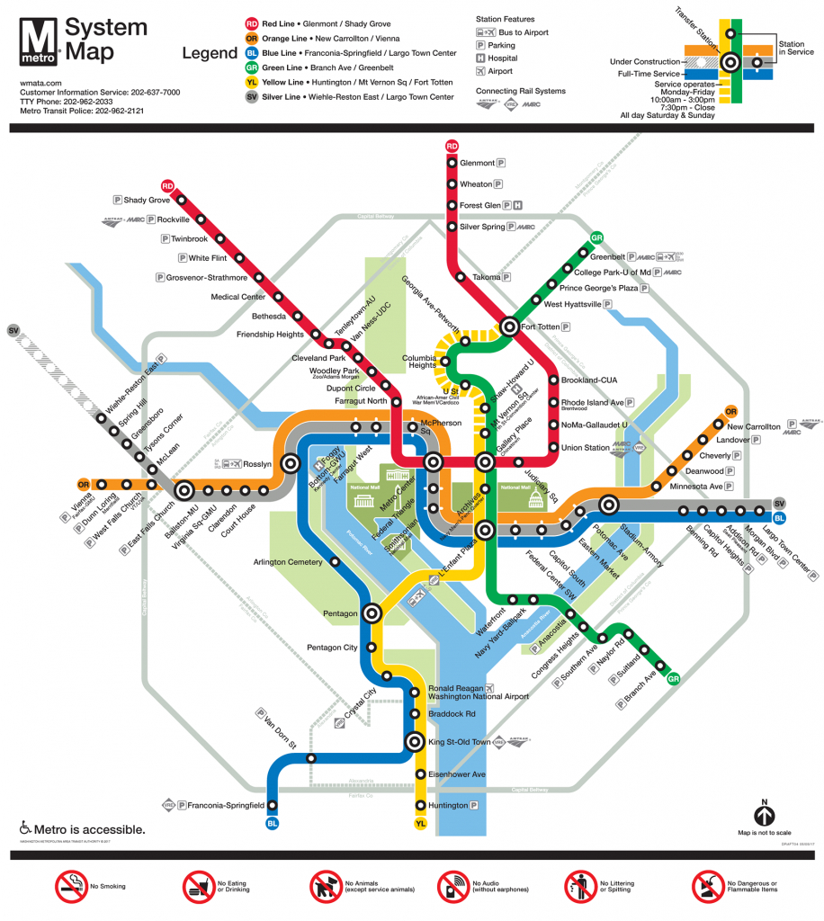 Printable Dc Metro Map | Fysiotherapieamstelstreek for Printable Metro Map