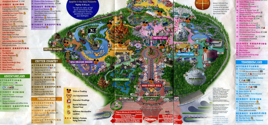 Printable Disneyland Map 2015 | Family | Disneyland Park, Disneyland intended for Printable Disneyland Map 2015