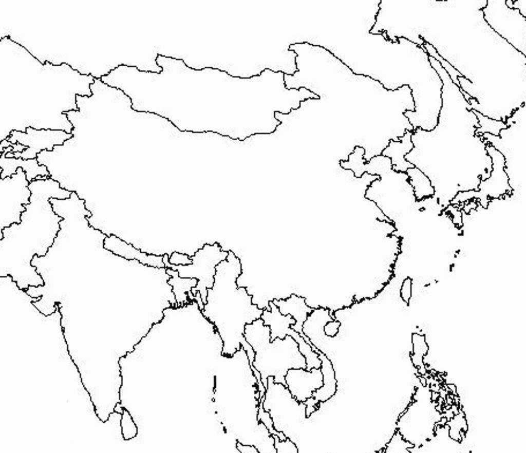 Printable Map Asia Of Blank East 5 - World Wide Maps throughout Blank Map Of Asia Printable