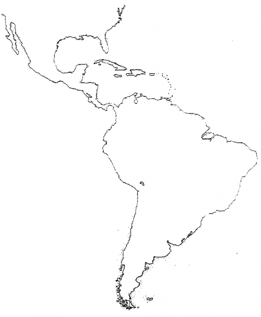 Printable Map Of Latin America Blank Paydaymaxloans Cf New South At throughout Blank Map Of Central And South America Printable