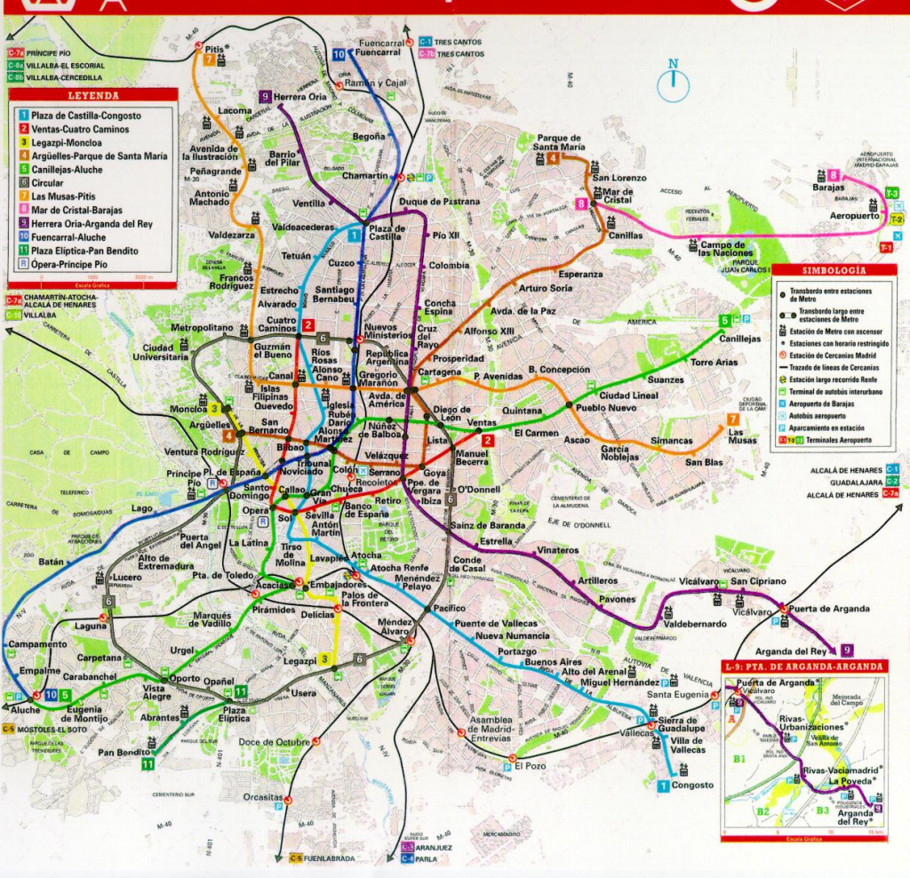 Printable Map Of Madrid | City Maps in Madrid City Map Printable
