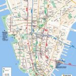 Printable Map Of Manhattan Ny | Travel Maps And Major Tourist   Free In Manhattan Map With Attractions Printable
