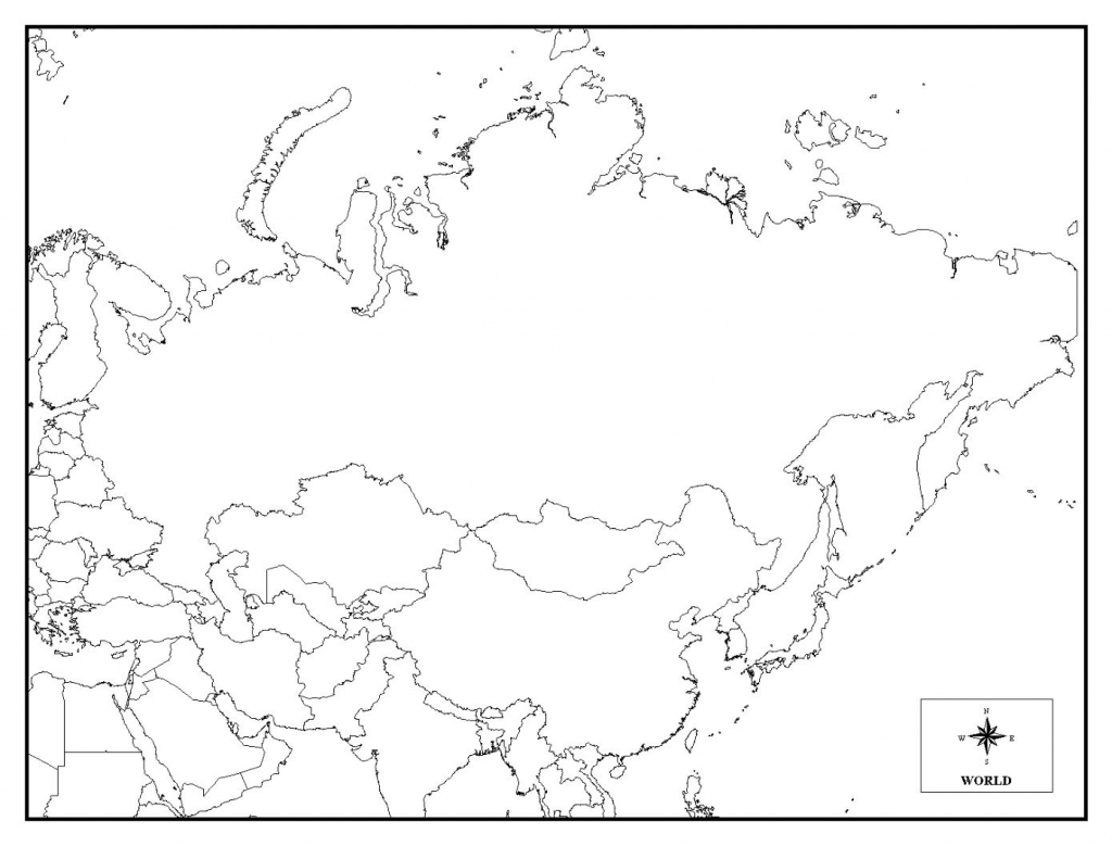 Printable Map Of Russia - Coloring Home regarding Blank Russia Map Printable