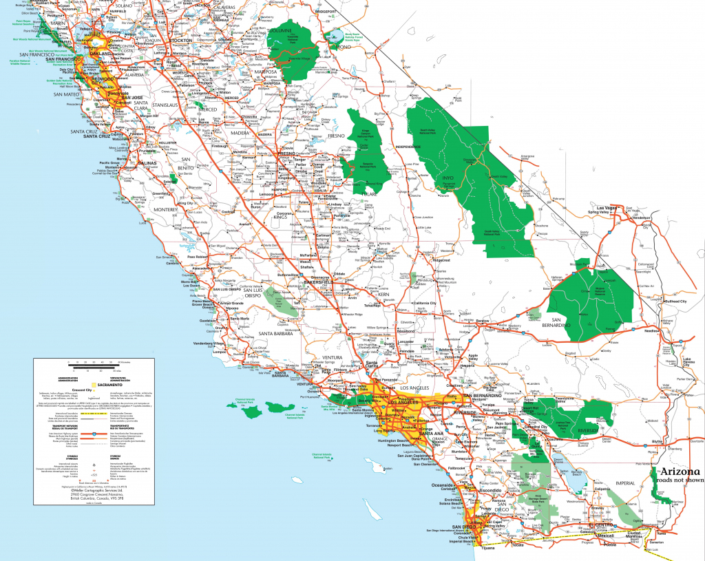 Printable Map Of Southern California | Klipy pertaining to Printable Map Of Southern California