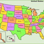 Printable Map Of The United States With State Names Fresh United Intended For Printable Map Of The United States