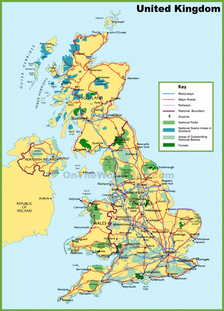 Printable Map Of Uk Towns And Cities And Travel Information with regard to Printable Map Of England With Towns And Cities