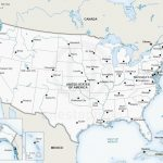 Printable Map Of Us Capitals Usa With States Valid Major Cities With Printable Map Of Usa With Major Cities