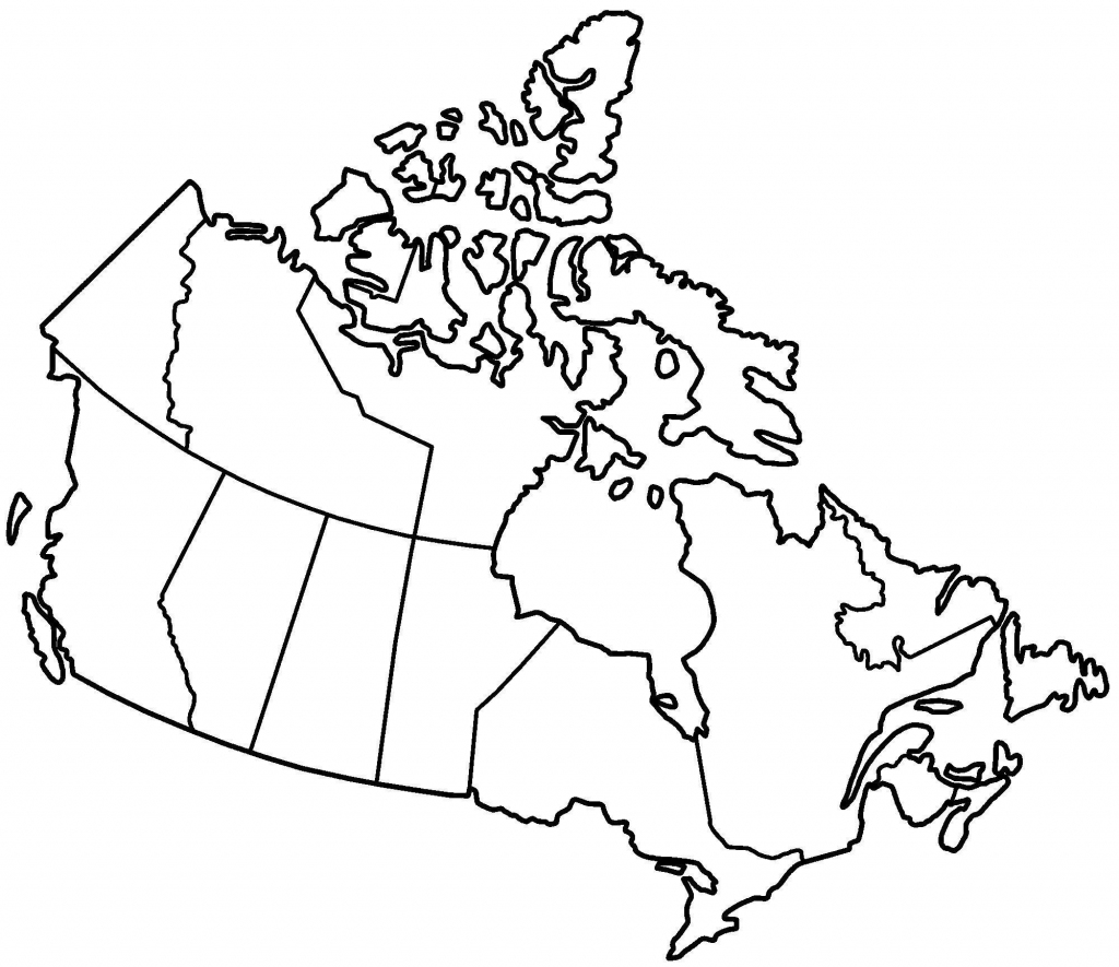 Printable Maps Of Canada Printable Map Of Canada Provinces And pertaining to Printable Blank Map Of Canada With Provinces And Capitals