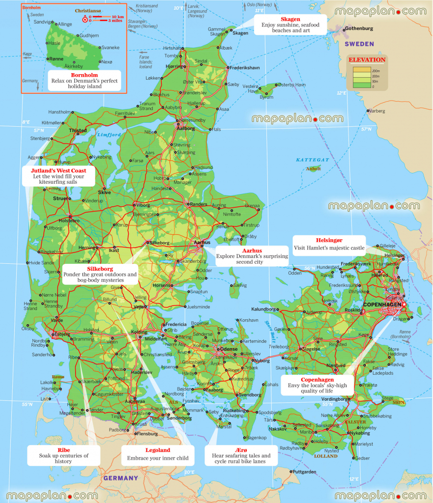 Printable Maps Of Denmark And Travel Information | Download Free with regard to Printable Map Of Denmark