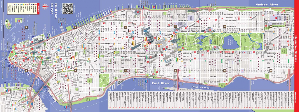 Printable New York Street Map | Travel Maps And Major Tourist intended for New York Printable Map Pdf