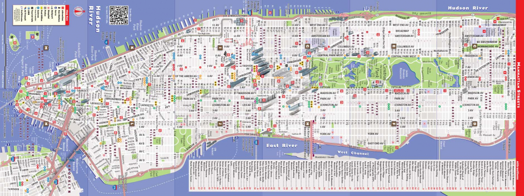 Printable New York Street Map | Travel Maps And Major Tourist pertaining to Printable City Street Maps