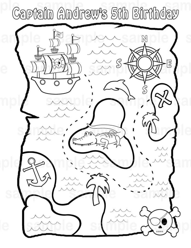 Printable Pirate Treasure Map For Kids✖️adult Coloring Pages➕More with regard to Children's Treasure Map Printable