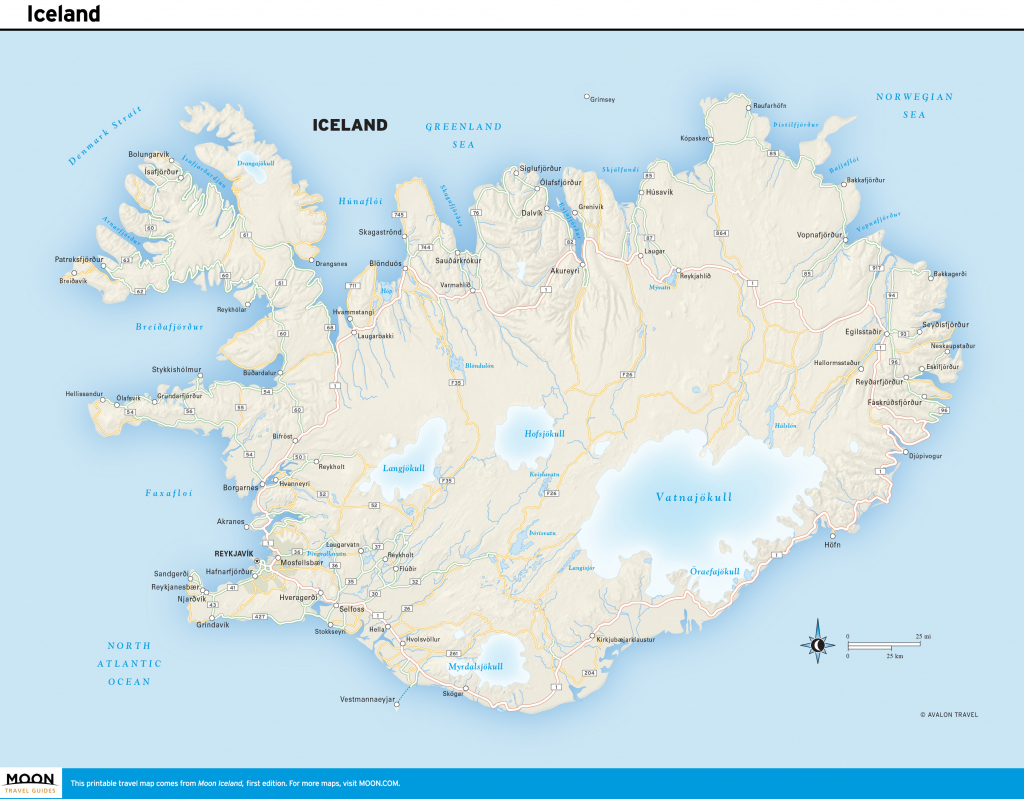 Printable Road Map Of Iceland And Travel Information | Download Free throughout Printable Map Of Iceland