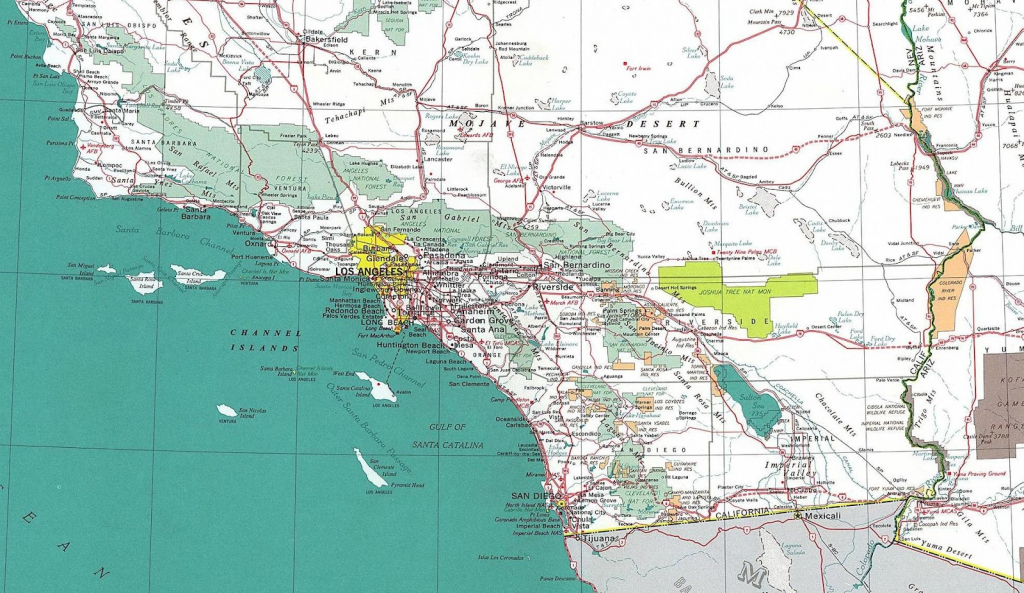 Printable Road Map Of Southern California | Printable Maps in Printable Road Map Of Southern California