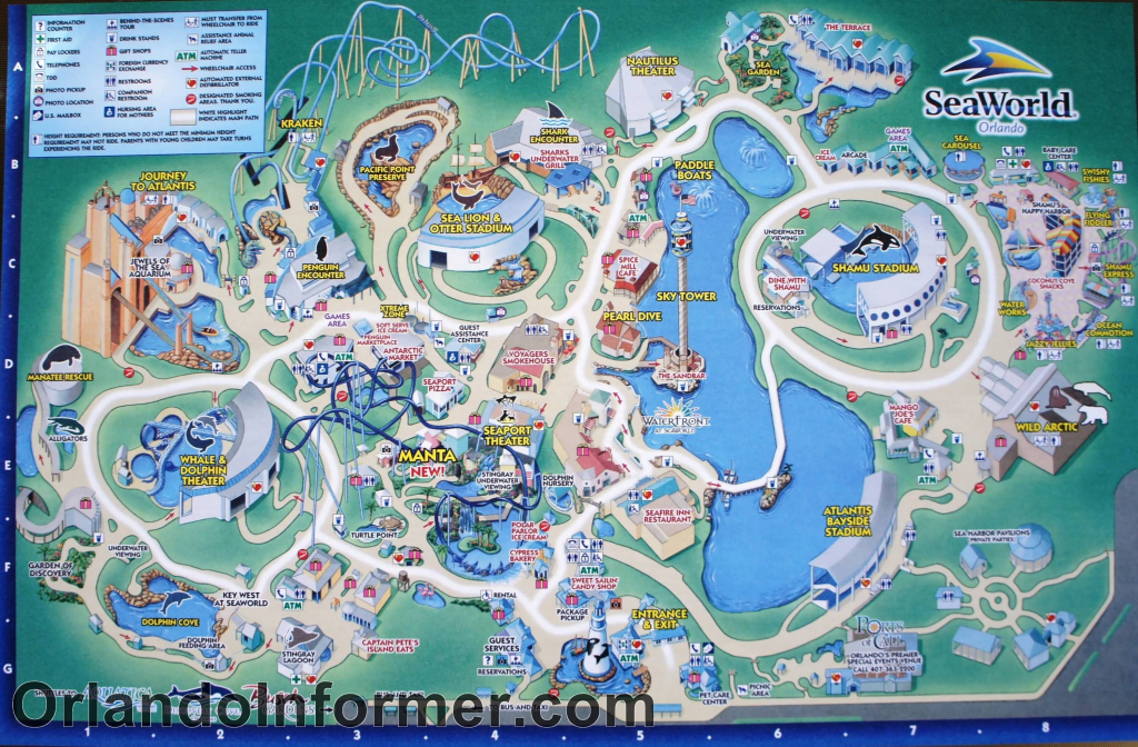Printable Seaworld Map | Scenes From Seaworld Orlando 2011 - Photo inside Seaworld Orlando Map Printable