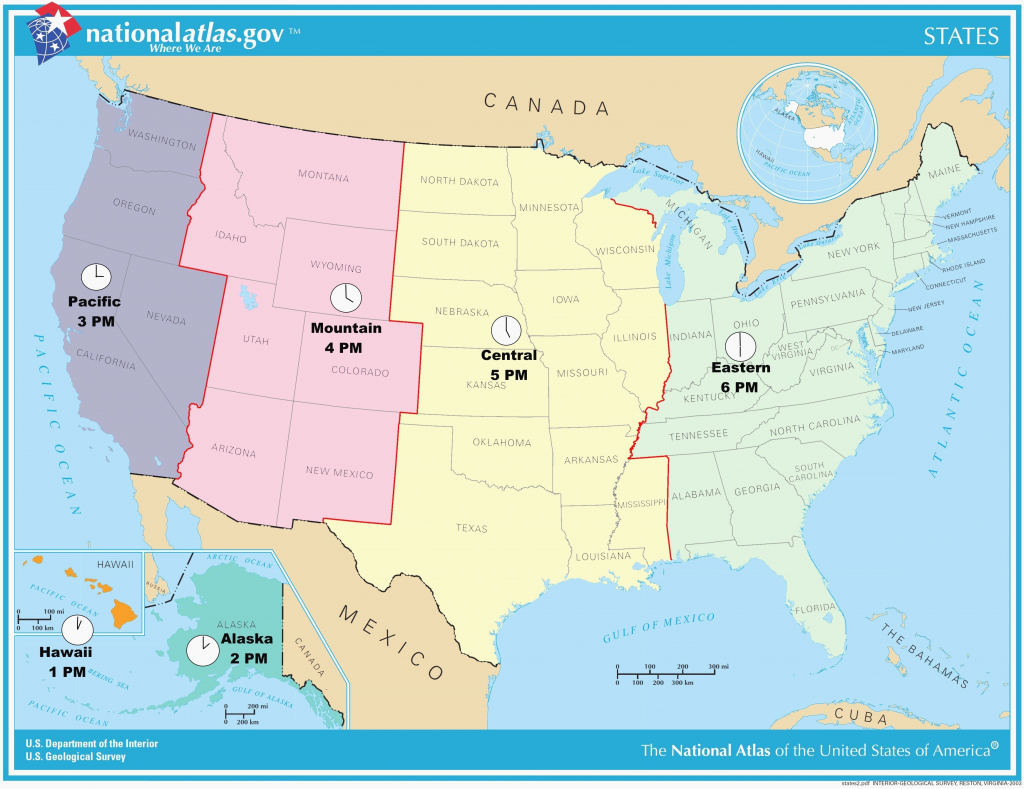 Printable Time Zone Map Us And Canada New Map Timezones In United in Printable Time Zone Map Usa With States