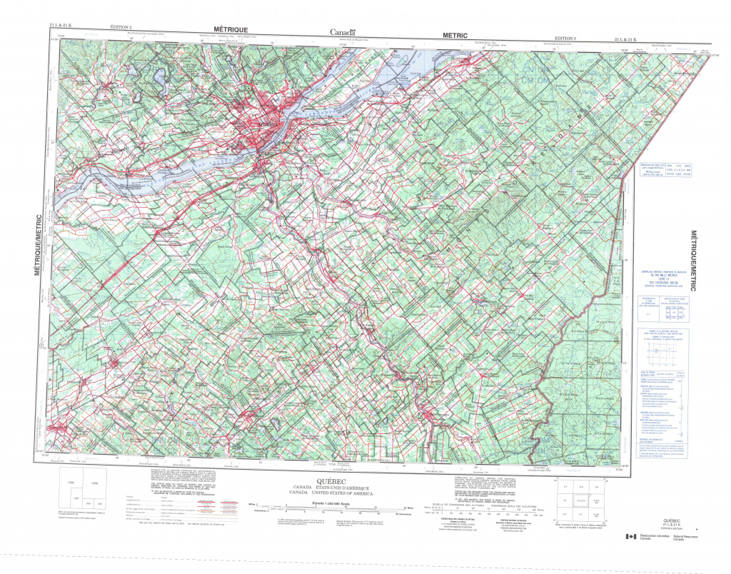 Printable Topographic Map Of Quebec 021L, Qc pertaining to Printable Usgs Maps